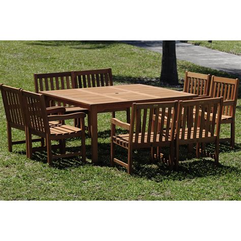 square patio table for 8 amazonia square deluxe dining set seats 8 patio