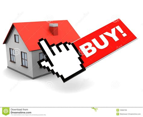 online house buying online buy house stock illustration image of push sell 18360706
