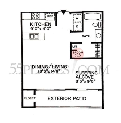 520 sq ft alpine floorplan 520 sq ft clearbrook 55places com