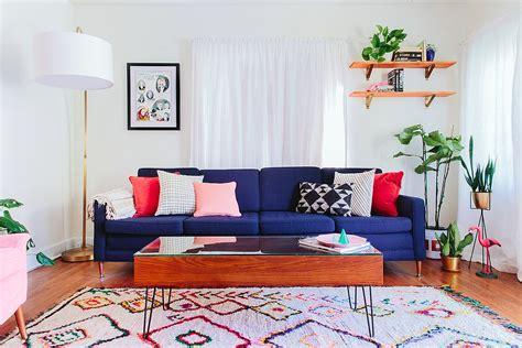 vibrant trend  colorful sofas  rejuvenate  living