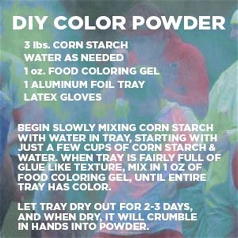 color war powder powder paint tempera and powder on
