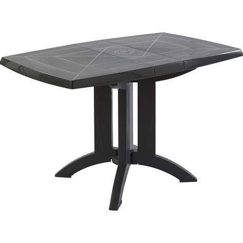 magasins de la table table de jardin grosfillex v 233 ga rectangulaire anthracite 4
