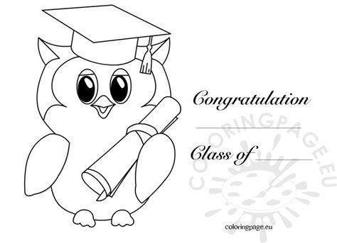 coloring pages for kindergarten graduation kindergarten graduation owl 2 coloring page