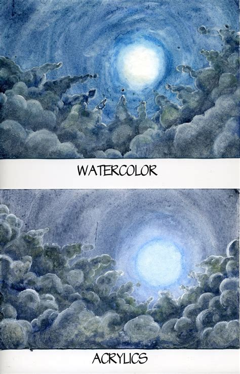 acrylic painting vs watercolor vs acrylic 2 by raspberrymetamorph on