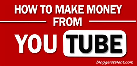 How To Make Money Online On Youtube - how to make money online from youtube bloggerstalent