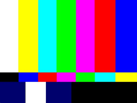 monitor color test transatlantic television traumas social