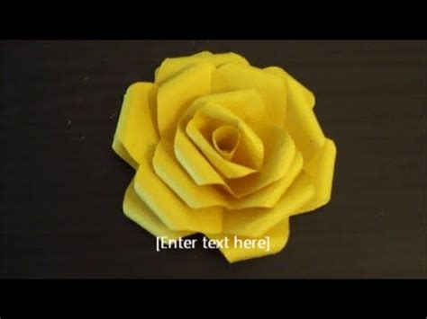 paper flower folding easy and clear tutorial