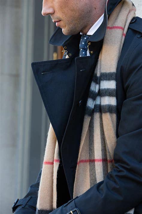 burberry plaid scarf he spoke style