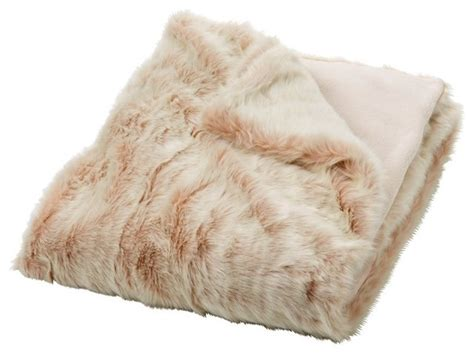 felldecke rosa faux fur throw pink traditional throws by indigo