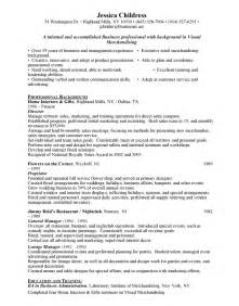 Macy Visual Merchandiser Sle Resume by Visual Merchandising Free Resumes