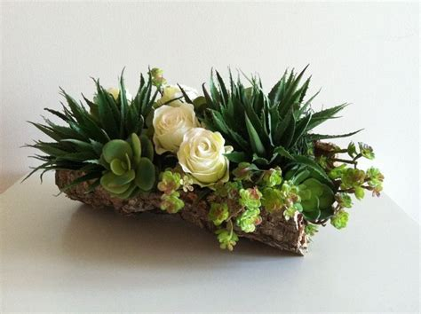 pin by tita on succulent modern succulent floral arrangement ivory green 72 00 via etsy flower arrangements