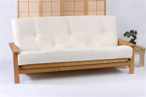 Futon Mattress World by Iowa 3 Seater Oak Futon Bed