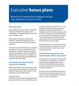 Bonus Plan Template by Sle Bonus Plan Template 6 Free Documents In Pdf