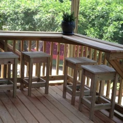 top deck bar screened in porch built in bar with custom stools outdoor