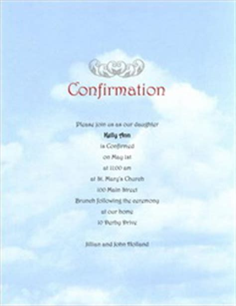 confirmation invitations templates free religious stationery templates clip and wording