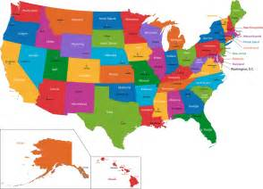 United States Map With States Us State Names Capitals Abbreviations Nicknames