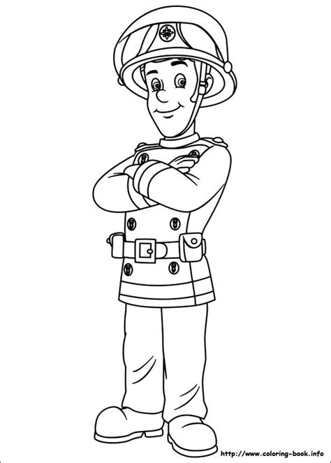 Fireman Sam Coloring Picture Colouring In Pinterest Fireman Sam Colouring Pages To Print