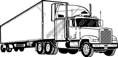 semi truck drawings semi clipart  vectorart vehicles semi trucks vectorart