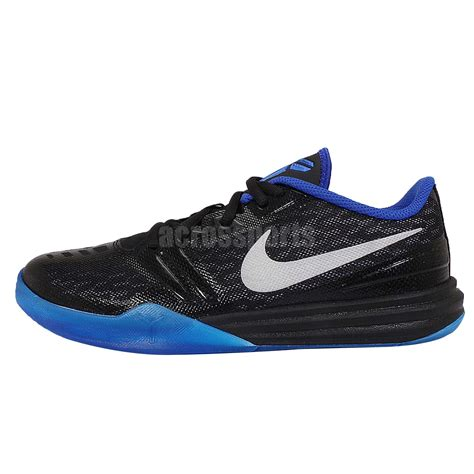youth basketball shoes nike kb mentality gs black silver blue bryant youth
