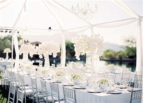color trend all white weddings the celebration society