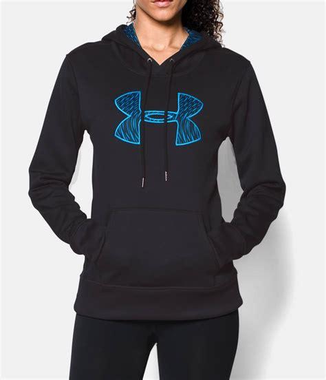 Celana Underarmour Black s ua armour fleece 174 printed big logo hoodie armour us