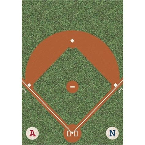 Baseball Area Rugs My Team Sport Dreamfield Novelty Rug