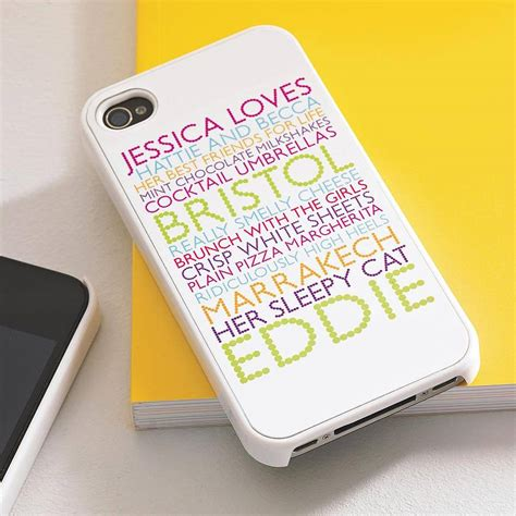 iphone gift personalised for iphone by pickle pie gifts