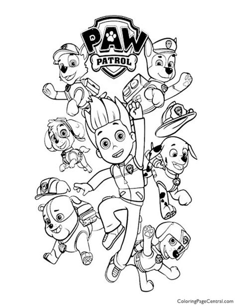 paw patrol coloring page  coloring page central