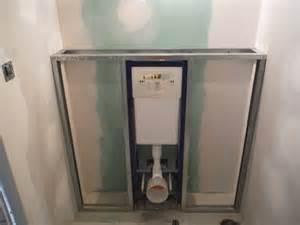 coffrage toilette faire le coffrage en placo d un wc suspendu r 233 nover soi