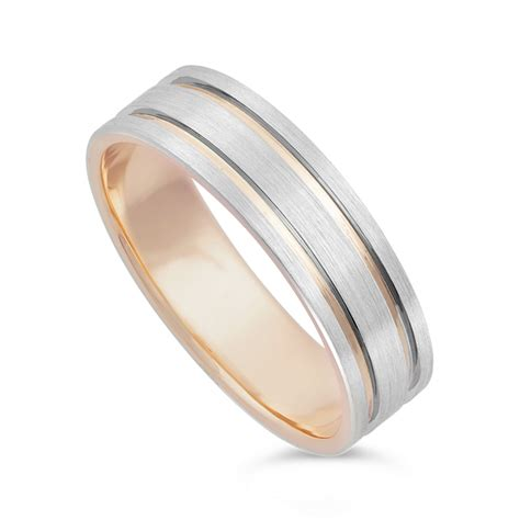 s 9ct gold and palladium 950 wedding ring
