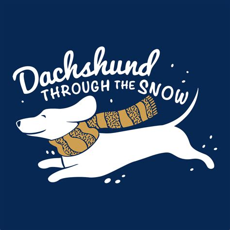 bantal dachshun thru the snow dachshund through the snow t shirt snorgtees