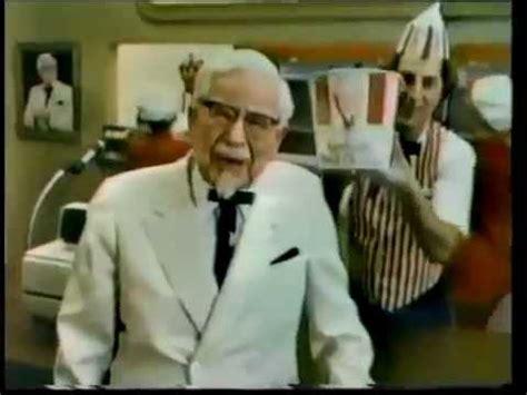 actors in kentucky fried chicken commercials 1980 kentucky fried chicken colonel sanders commercial
