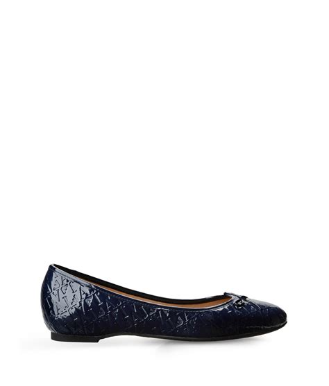 blue shoes flats armani ballet flats in blue blue lyst