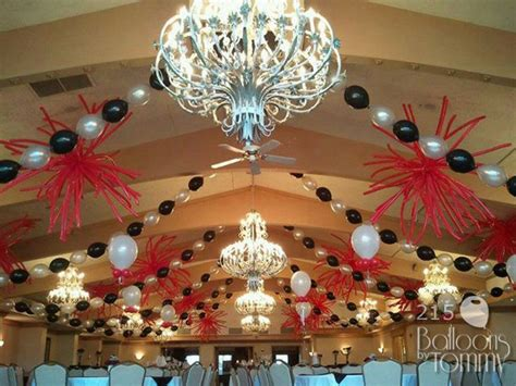existing decor   beaded swags  balloons