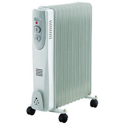 Small Electric Heater For Cervan 11 Fin 2500w Portable Electric Filled Radiator