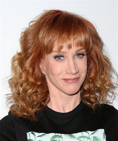 how to get griffin hair kathy griffin medium curly casual hairstyle with layered