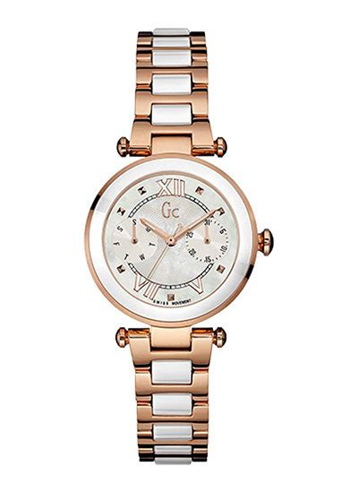 Guess Collection Gc68334 Blue Ceramic Ladiez guess collection analog white y06004l1