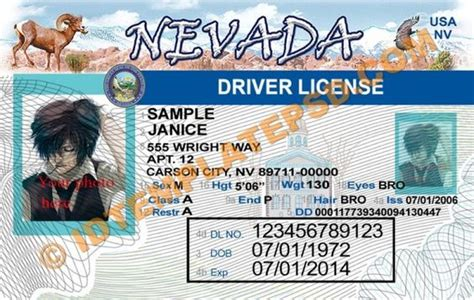 Nevada Id Card Template by Psd Template Editable With Adobe Photoshop This Is