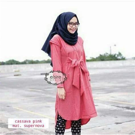Pakaian Wanita Setelan Pink baju modis cassava pink grosir baju muslim pakaian wanita dan busana murah