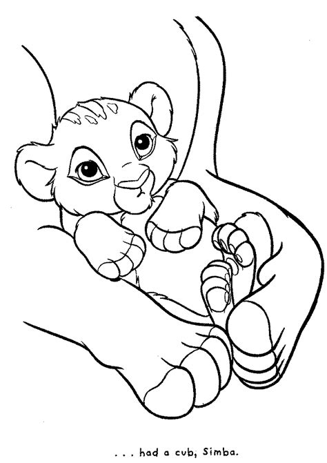coloring pages of lion cubs image detail for lion king coloring pages craft dino