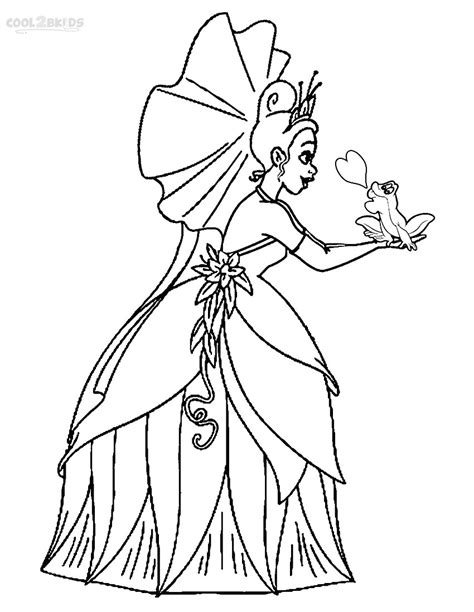 Printable Princess Tiana Coloring Pages For Kids Cool2bkids Princess And The Frog Coloring Pages