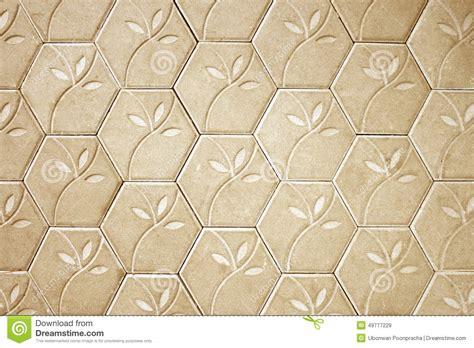 flower pattern concrete blocks brown cement block floor flower pattern background stock