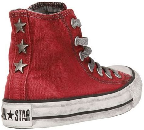 converse limited edition smoke effect sneakers  red  men lyst