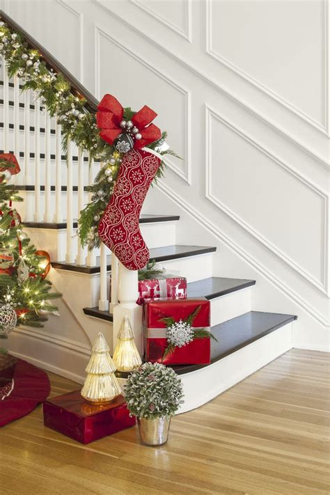 live garland decor create a festive foyer by draping your banister with live