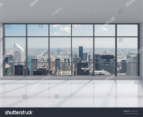 Cityscape Curtains Manhattan Office City View Stock Photo 193232747