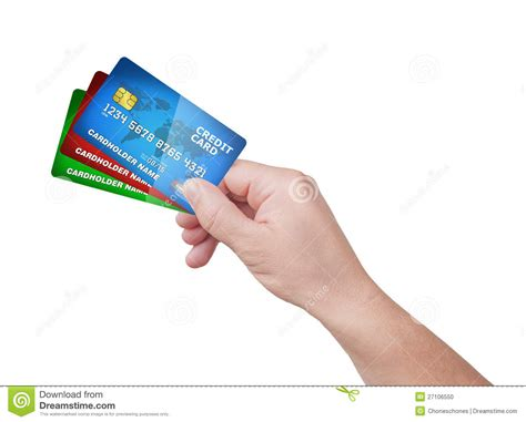 Holding Credit Card Template Holding Pack Of Credit Card Stock Illustration Image 27106550