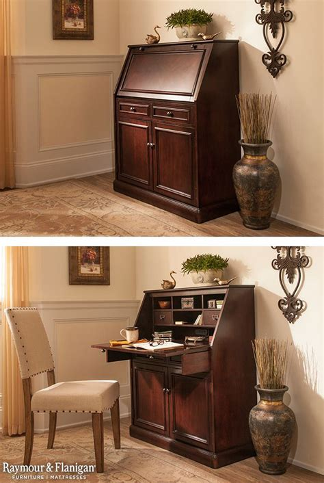 laptop desk armoire hide a home office in plain sight with this