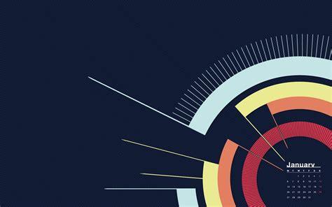 abstract winter january  calendar wallpaper preview