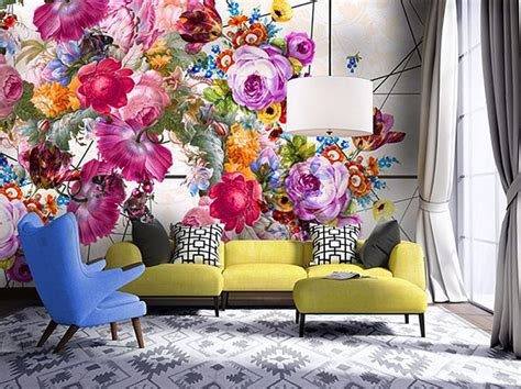 carta da parati fiori grandi carta da parati la pi 249 cool ha i fiori giganti grazia