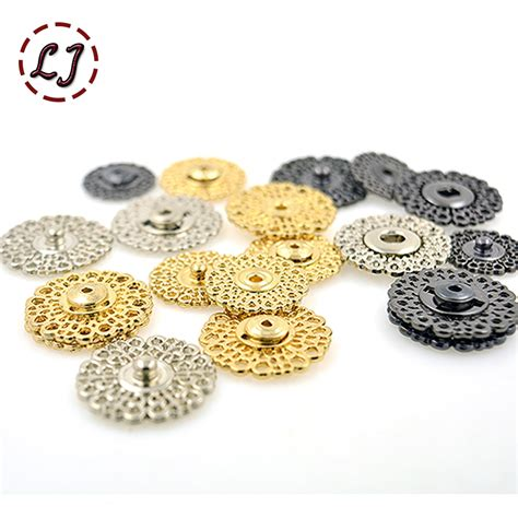 high quality 10pcs lot 18mm 21mm 25mm gold white big metal copper snap fasteners press button
